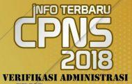 Verifikasi Seleksi Administrasi CPNS Kota Pagar Alam Tahun 2018